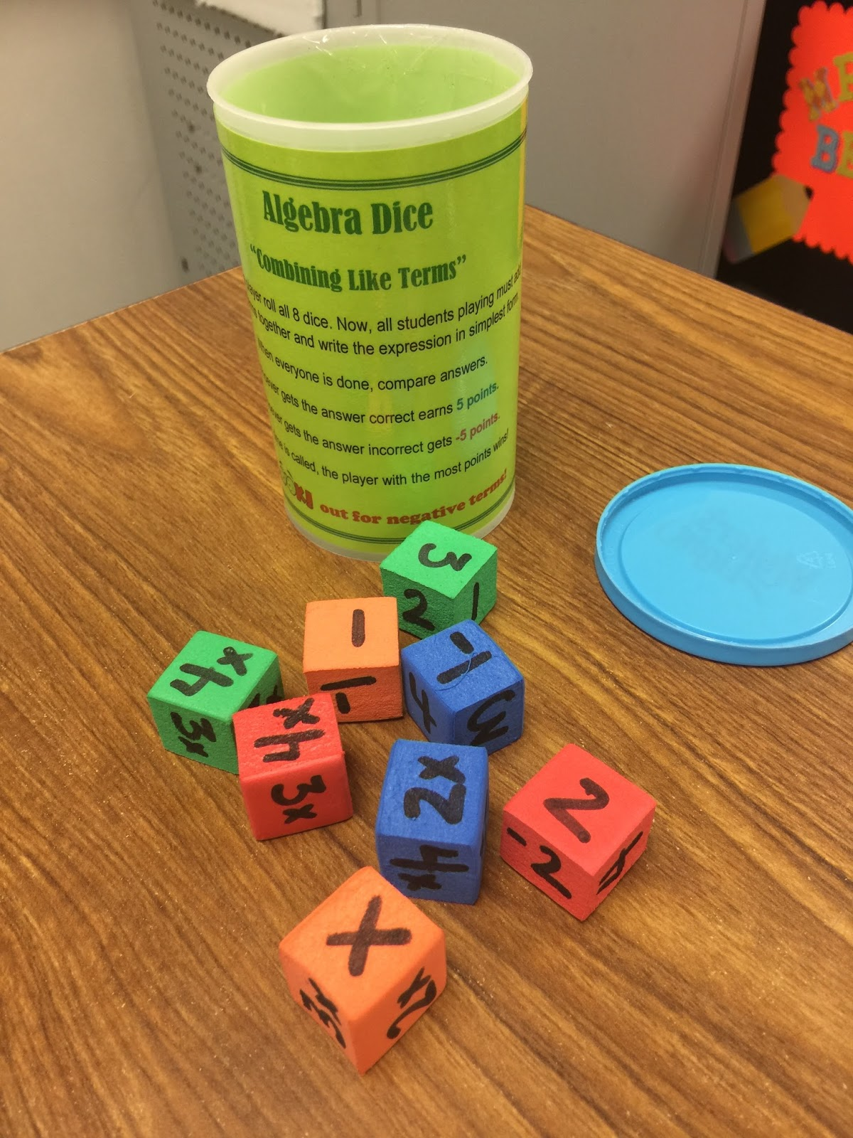 My Math Imagination Foam Cubes For Combining Like Terms