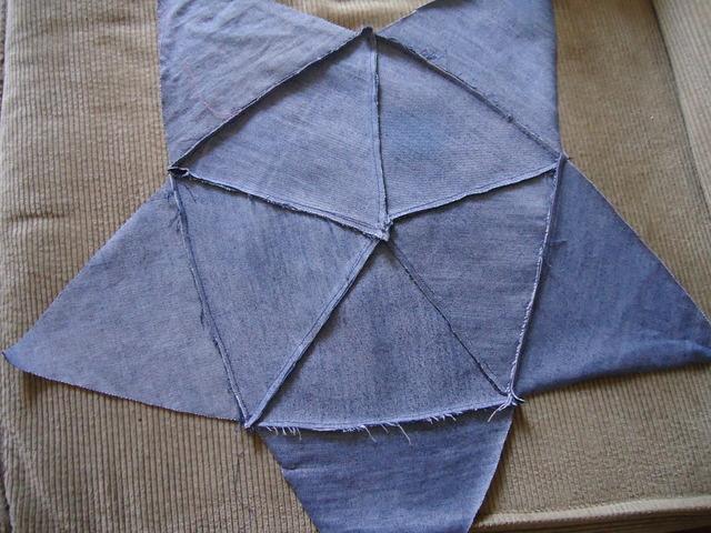 DIY, poducha w kształcie gwiazdy