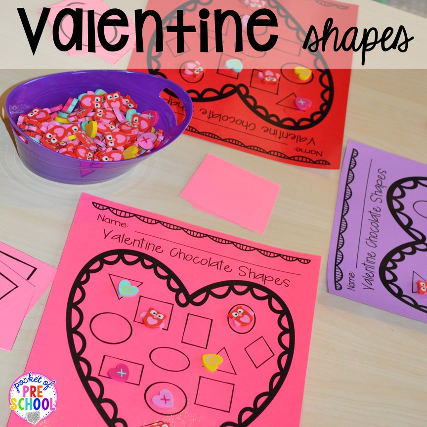 Valentines Day Themed Centers and Activities  Pocket of