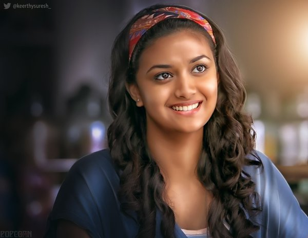Idhu enna maayam Movie actress Keerthi suresh hot Smile expression really take your heart out