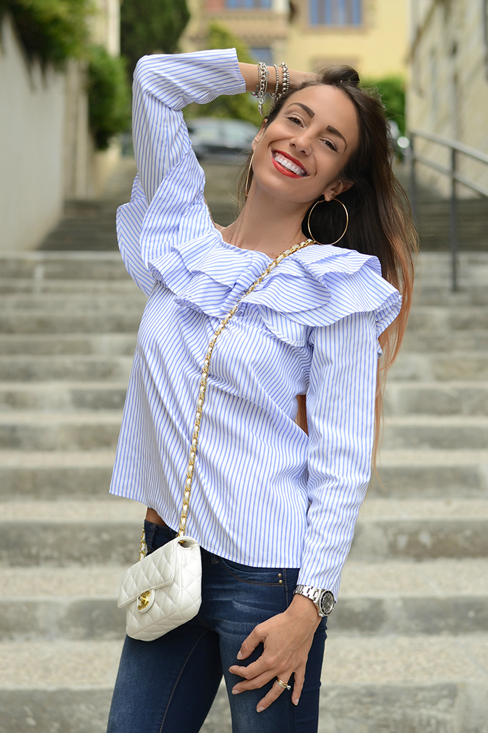 camicia monospalla