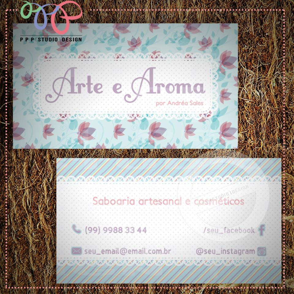 Favoritos PPP Studio Design: Cartão de visita - Floral 7 WE37
