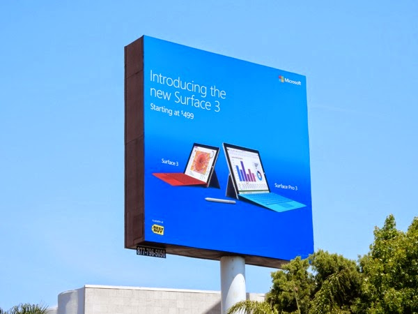 Introducing Surface 3 billboard