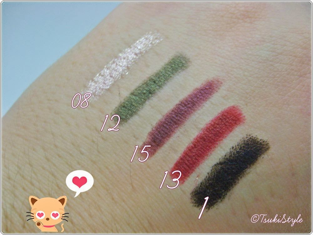 jewel light waterproof eyeliner swatches