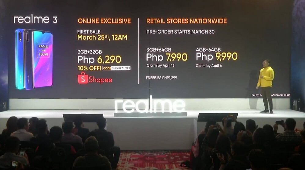 Realme 3 Variants, Prices, and Availabilities in the Philippines