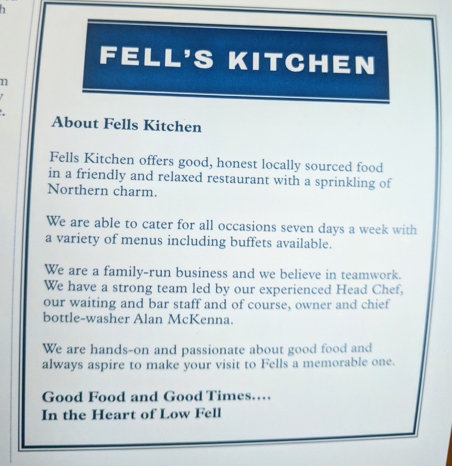 Fell\'s Kitchen Happy Hour / Early Bird & Kid\'s Menu - you\'ll not ...
