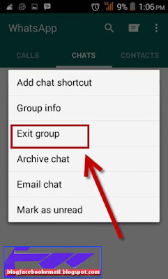 cara exit dari grup whatsApp