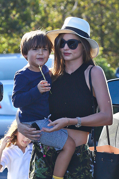 Miranda Kerr with her son Flynn in Malibu