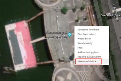 mengukur luas jarak suatu tempat atau lokasi dengan mudah dengan google maps atau gps