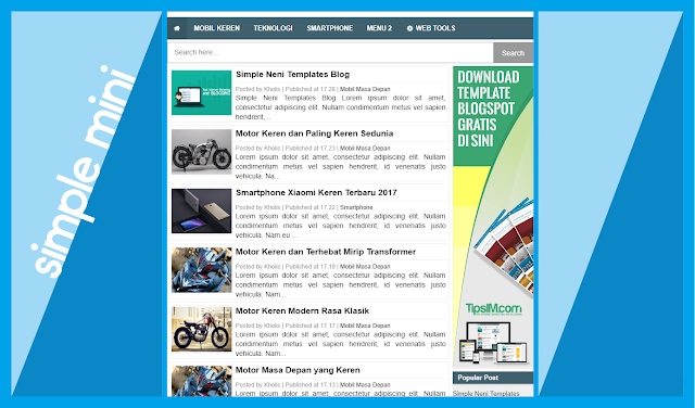 Simple Neni Blogger Templates