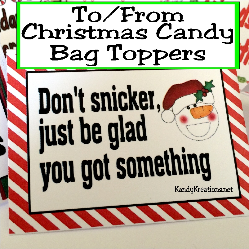 graphic relating to Christmas Bag Toppers Free Printable referred to as Do it yourself Occasion Mother: Toward and Versus Xmas Sweet Bag Toppers