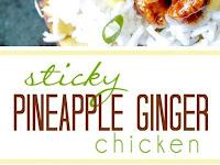 Sticky Pineapple Gingger Chicken