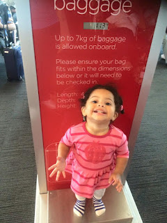 Airport scales are for toddlers too!