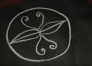 The Four Quadrants Rangoli Drawing Method