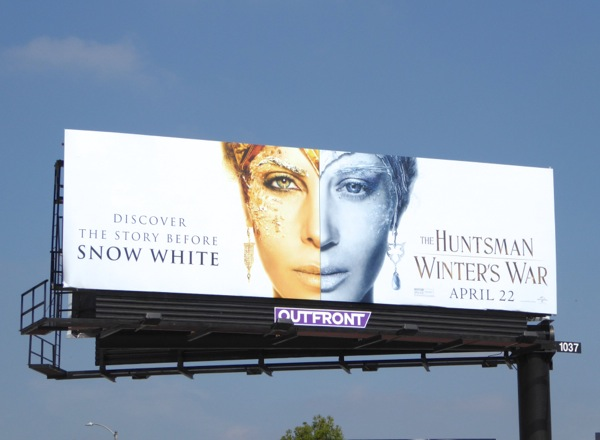 Huntsman Winter's War split face billboard