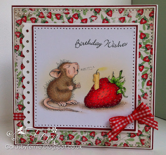 House Mouse Strawberry Birthday