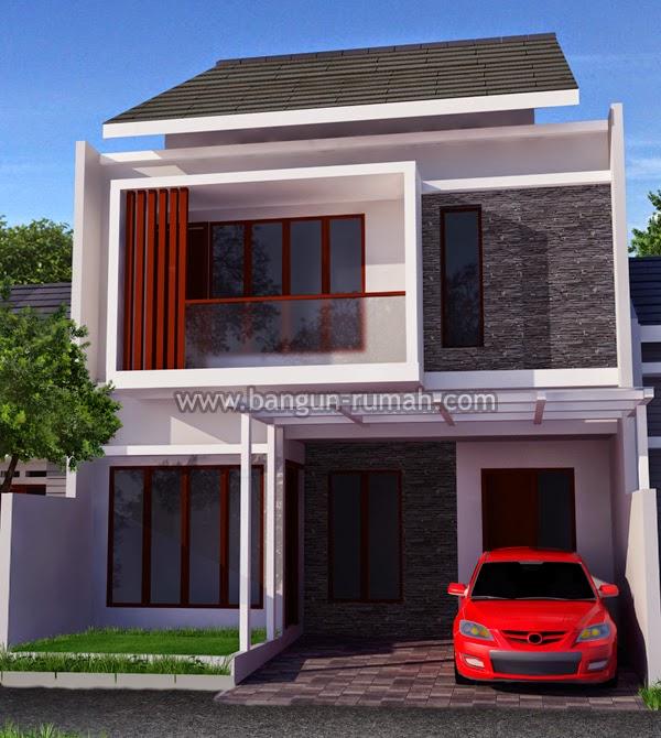 Desain Rumah Minimalis 2 Lantai 8 X 15