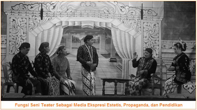 Fungsi Seni Teater Sebagai Media Ekspresi Estetis, Propaganda, dan Pendidikan