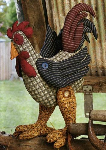 rooster - Galo em tecido