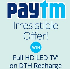Win 40+ inch Full HD LED TV on DTH Recharge @ Paytm