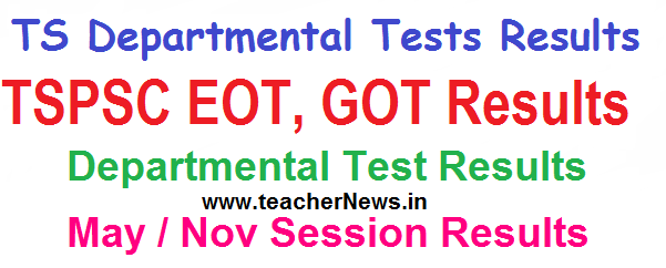 TS Departmental Test Results 2017 May 2016 Session Results of EOT 141 GOT 88-97