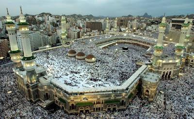 Foto Masjidil Haram Mekkah Al Mukarromah Tampak Atas Sore Hari Terbaru