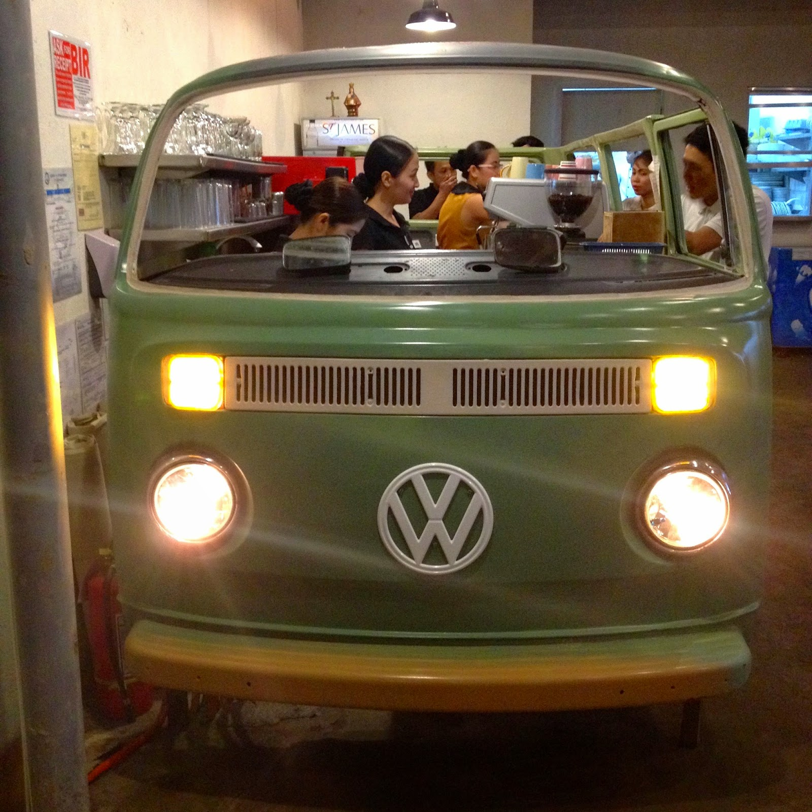 VW van at a diner in Cebu