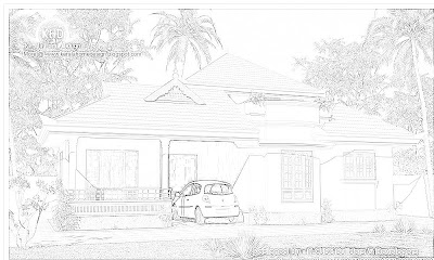 130 Square meter (1400 SqFt.) Kerala Style House Architecture - Single Floor Homes - October 2011