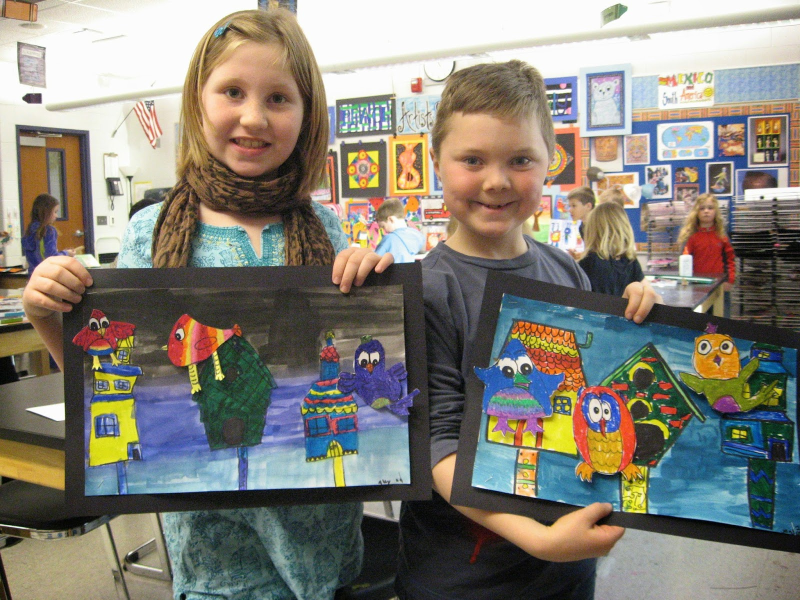 Jamestown Elementary Art Blog 2nd Grade Architecture Birdhouses