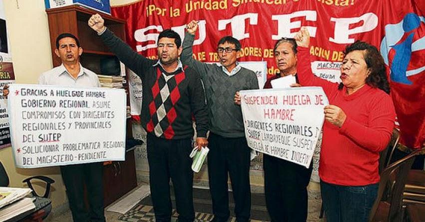 Afiliados al Sutep Lambayeque levantan huelga al llegar a acuerdos con el gobierno regional