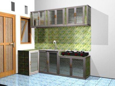 desain lemari gantung dapur minimalis terbaru