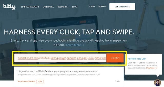 Cara Mudah Meringkas Alamat URL Dengan Bitly - Blog Mas Hendra
