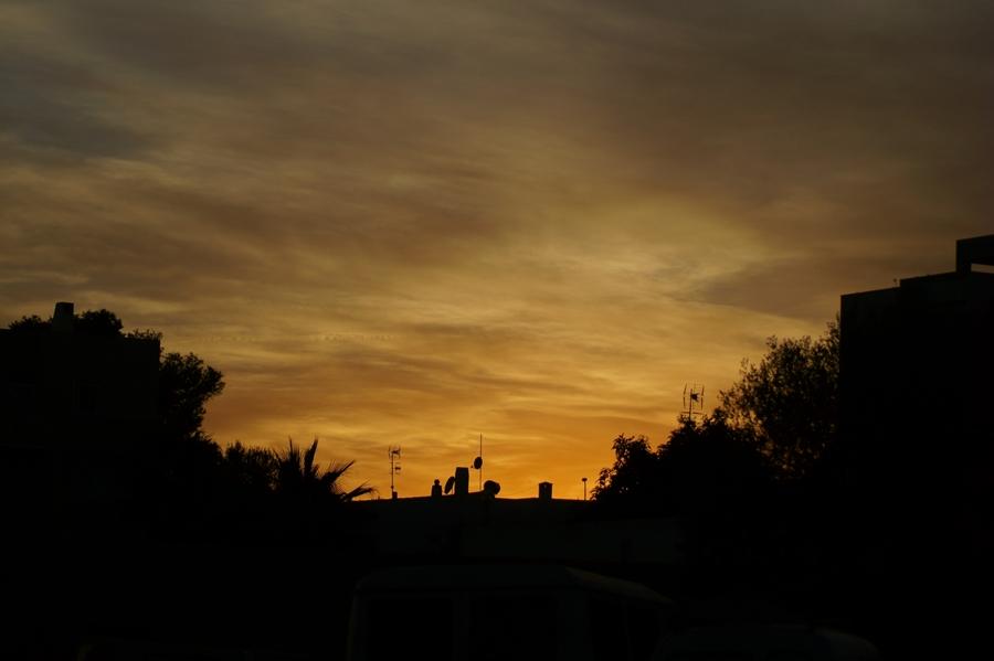 Blog + Fotografie by it's me! - Reisen - La Isla Blanca Ibiza, Santa Eurlaria - Sonnenuntergang im Gegenlicht