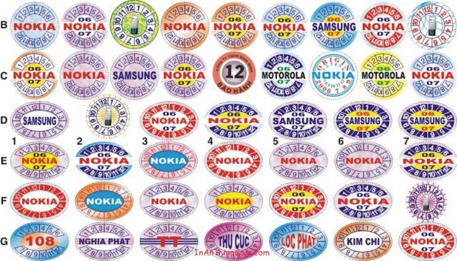 các loại tem nhãn