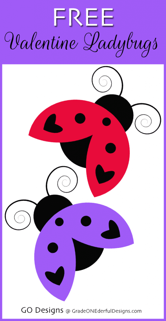 FREE Valentine Ladybugs Clipart by Grade ONEderful. This is Day 11 of 14 days of Valentine FREEBIES.