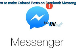 How to make Colored Font on Facebook Messenger