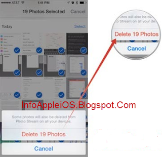 Delete Multiple Foto iPhone iPad