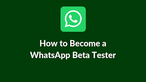 How to become a whatsapp beta tester