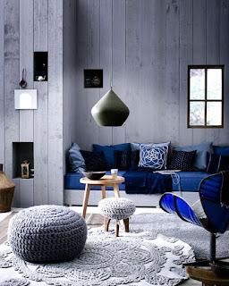 sala color azul y gris