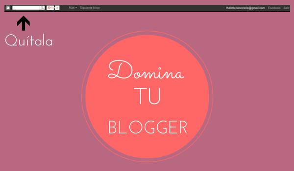 Quitar barra de navegación de Blogger
