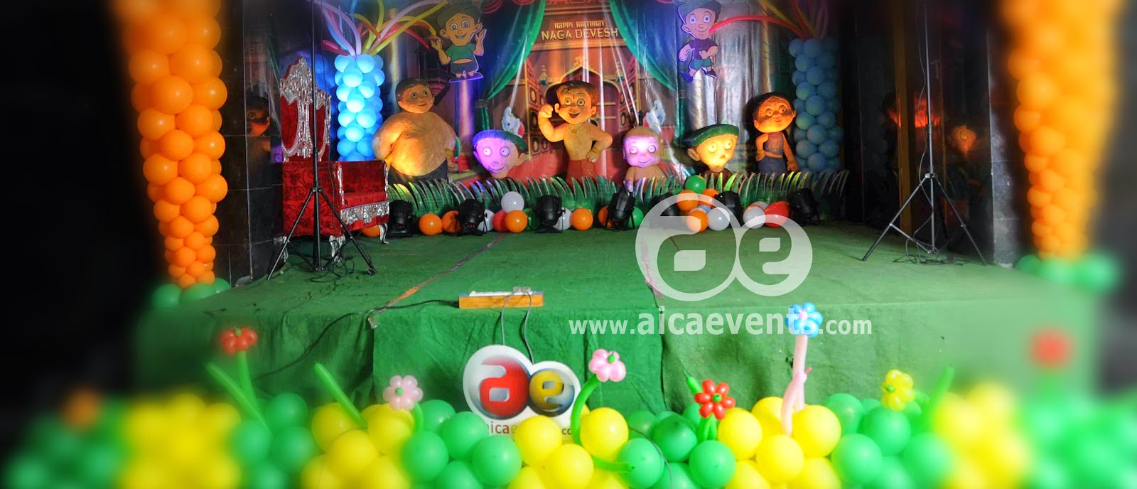 Aicaevents India Chhota Bheem Theme Decorations