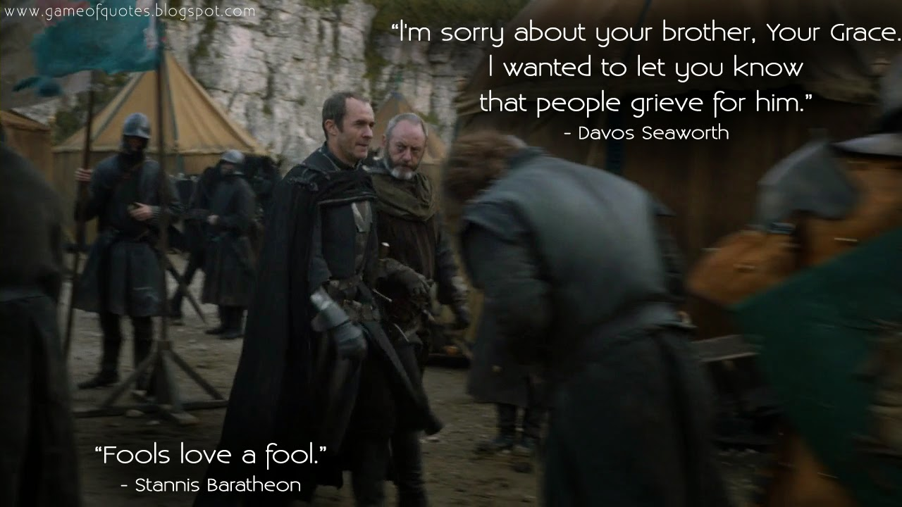 stannis and davos relationship advice