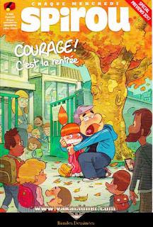 Chaque mercredi, Spirou, courage! c'est la rentrée, numéro 4090, année 2016
