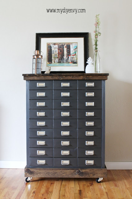 filing cabinet makeover, painted filing cabinet, industrial file cabinet, how to create industrial furniture