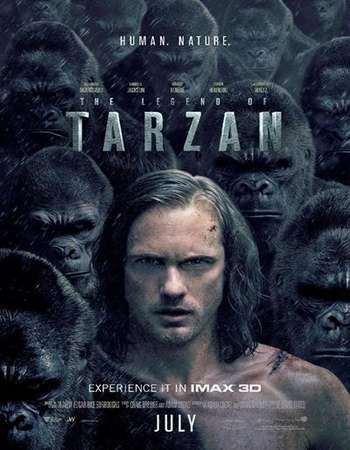 The Legend of Tarzan 2016 ORG Dual Audio 130MB BRRip HEVC Mobile ESubs