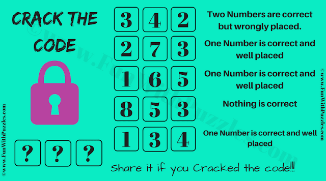 This Crack the code puzzle is for teens in which one has to decode the code to open the lock