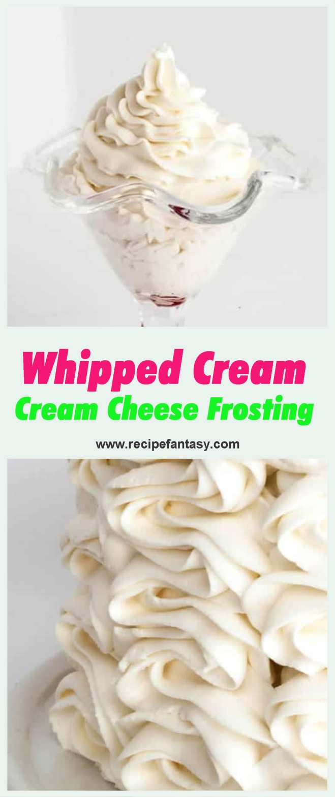 Whipped Cream Cream Cheese Frosting