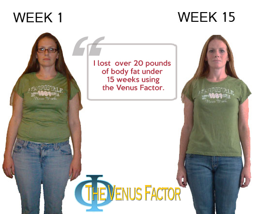 venus factor before and after pictures