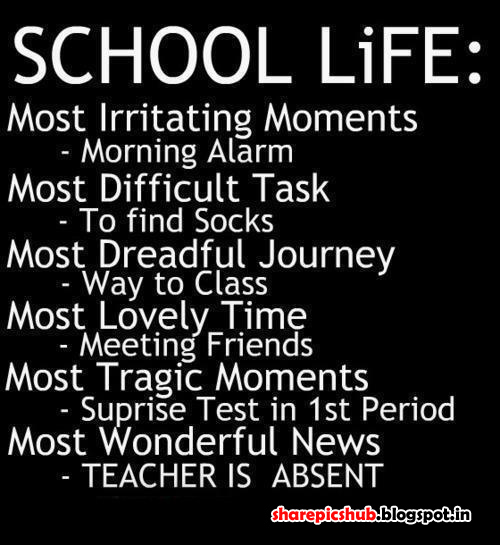 Beautiful School Life Quotes in English | Student Quotes ...