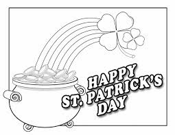 Happy St Patricks Day 2018 Coloring Pages Free Download